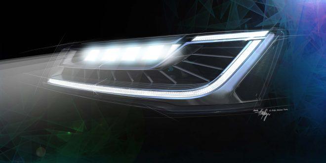 Neues Scheinwerfersystem im Audi A8
